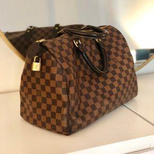 Louis Vuitton Damier Ebene- Speedy 35 Bag